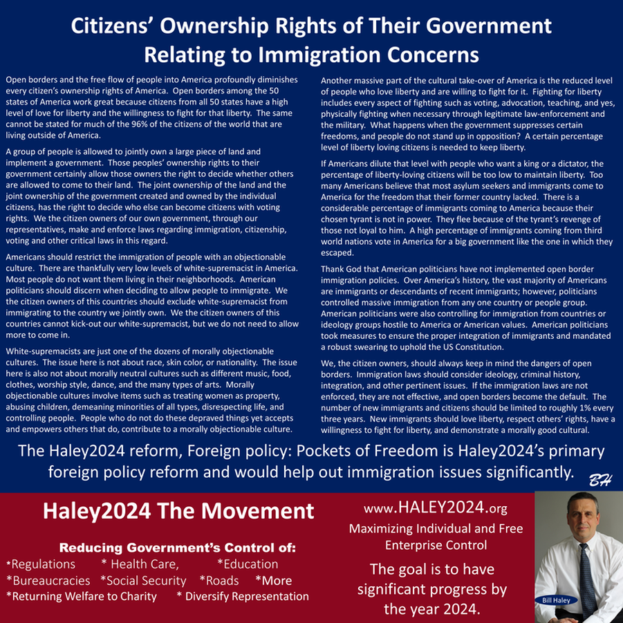 Immigration Reform News: Citizens' Ownership Rights Of Their Government Relating To
